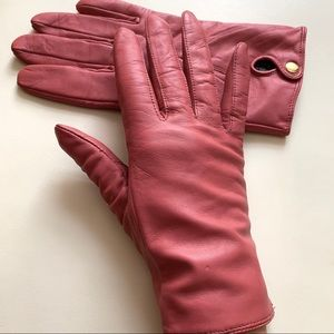 H&M Gloves in Soft Dusty Pink Leather
